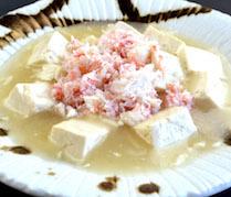 【ランチ】豆富と蟹の塩味煮