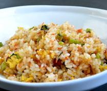 【セットメニュー】鮭と野沢菜漬けの炒飯