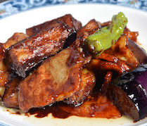 【ランチ】豚肉と茄子の味噌炒め
