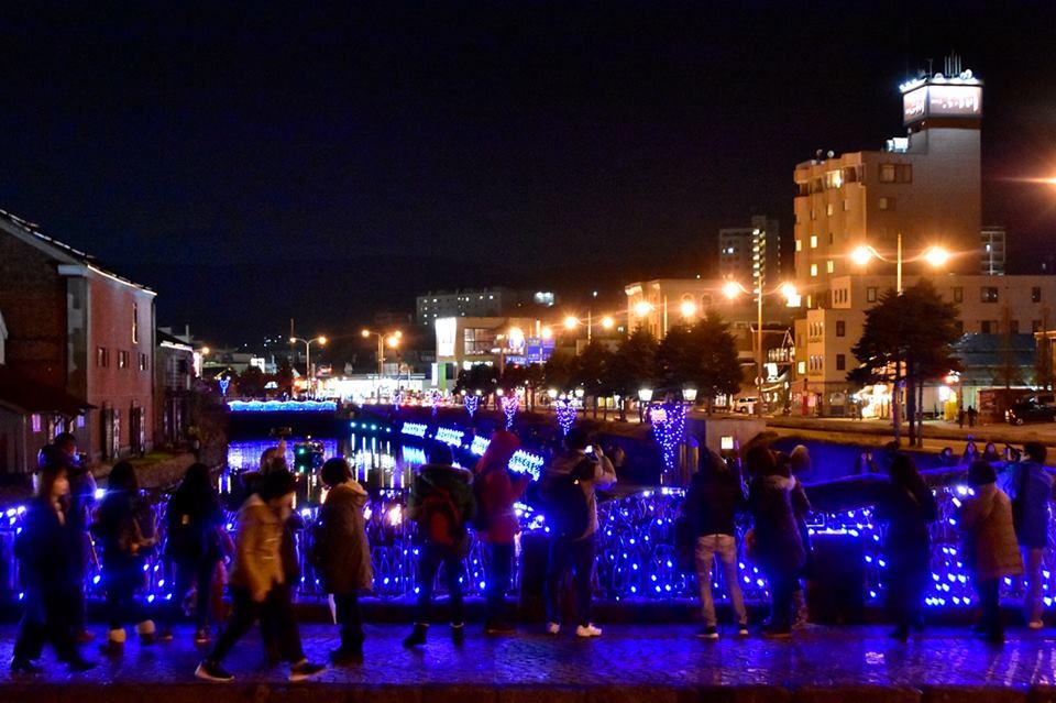 小樽運河前